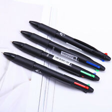 0.7mm Multicolor 4 in 1 Ballpoint Pen Red Green Blue Refill School Office Supply