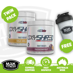 EHPlabs OxyShred 60 Serves Fat Burner | Twin Pack | FREE Shaker & Shipping