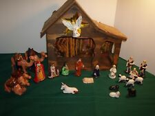 Vtg. Nativity Set with Stable