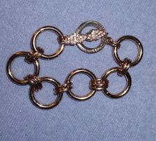 Victoria's Secret Limited Edition Rose Gold Crystal Toggle Angel Wing Bracelet