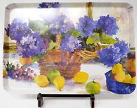 """Beautiful Made in Italy Melamine Tray Hydrangeas 17.5"""" x 12"""""""