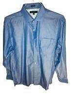 TOMMY HILFIGER Men's Shirt Size 16.5 34/35 Blue Long Sleeve Button Down