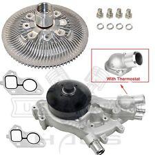 Water Pump + Thermostat + Fan Clutch Kit Cadillac Chevrolet GMC 4.8L 5.3L 6.0L