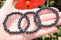 Premium CHARGED Hematite Crystal 8mm Bead Bracelet Stretchy ENERGY REIKI