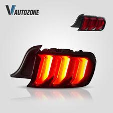 VLAND Full LED Multi Mode Tail Lights Fit For 2015-2020 Ford Mustang Red Lens