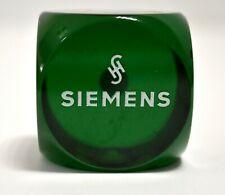 XL Translucent Green Bakelite DICE 102 grams W. Germany Siemens advertising