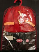 American Girl And Gotz Doll ~ Red Fleece Coat Fits 14� dolls Brand New!