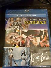 Beetlejuice/Charlie and Chocolate Factory/Tim Burtons Corpse Bride (Blu-ray Dis…