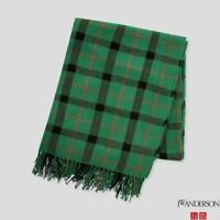 J.W ANDERSON UNIQLO green check plaid large oversized stole scarf, NEW BNWOT