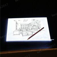 Portable USB LED Artist Tattoo Stencil Board Light Box Tracing Drawing Pad Table