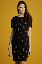 Sugarhill Boutique Nadine Black Dress with Toadstool Mushroom Print SH-0127