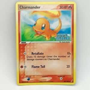 Charmander 48/100 Reverse Holo - EX Crystal Guardians - Pokemon Card - EXC