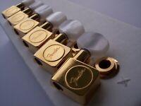 GENUINE Fender SCHALLER American Series Tuners TELE Strat GOLD PEARLOID BUTTON