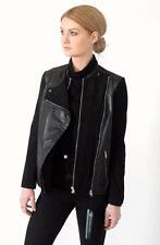 Paul Smith Black Leather & Suede Biker Jacket IT42 Medium UK 8-10 US6-8 RRP £595