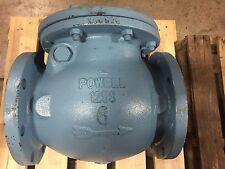 "6"" Powell Swing Check Valve, 125#, Flanged Figure #559P 3% Nickel Iron"