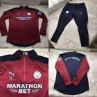 Manchester City Puma Player Issue Worn RAINCEL Strike Jumper And Pant Set Size L
