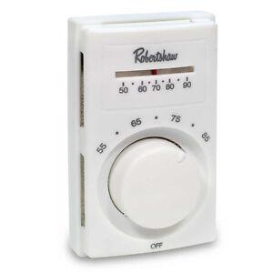 Robertshaw 802 Line Voltage Heating Only Thermostat, DPST