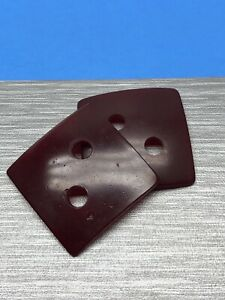 """Cherry Bakelite Catalin buttons large square 1  1/2""""x1  1/2"""" simichrome tested"""