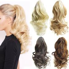 Extensions Ondulé Bouclé Wig Perruque Queue de Cheval Haute Clip Pince À Cheveux