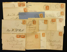 Canada, Lot of 15 Covers, Queen Victoria 3 Cents #5719