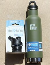 KLEAN KANTEEN Green Fatigue Tactical Insulated Bottle Stainless Steel camouflage