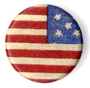 Circa 1890 Patriotic American Flag Cloth Lapel Stud (2928)
