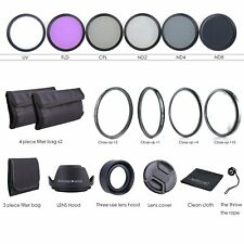 62MM Lens Filter Kit - Macro Close Up Set & UV CPL FLD w/ Pouch for Nikon Canon