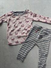 Hatley Organic Pyjamas 12-18m But Small Fitting Baby Girl