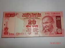 INDIA PAPER MONEY-HALF PACK-50XRS.20/-OLD 'MG' NOTES-Y.V.REDDY-NIL YR.-RARE-E-20