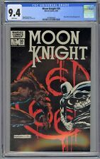 Moon Knight #30 CGC 9.4 NM Wp Vs. Werewolf Marvel Comics 1983 Tough Black Cover