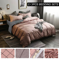 Print Duvet Quilt Cover Bedding Set With Pillowcase Single Double King Size