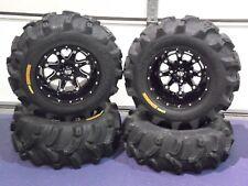 "SET 4 2003-2014 HONDA RINCON 650 BEAR CLAW 25/"" ATV TIRES 25X8-12 25X10-12"