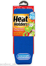 Childrens Thermal Heat Holder Socks size 9-1 Uk, 27-33 Eur, 9.5-2 us Royal Blue