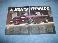 "1986 Chevy El Camino Custom Pro Touring Article ""A Son's Reward"""