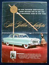Prospectus brochure 1952 NASH AMBASSADOR * Rambler * Statesman alternatives (USA)