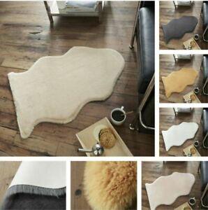 Fluffy Faux Fur Sheepskin Rabbit Rug Carpet Area Wool Shaggy Rugs Hairy Mat