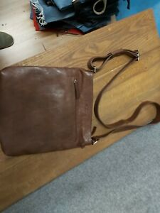 Saccoo Dark Tan Leather Side Bag
