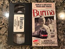 Worlds Greatest Train Ride Videos Burma VHS! National Geographic PBS