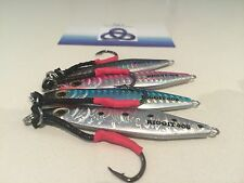 FISHING JIG 40g x 4 off RIGGIT NEW COLOURS only $17.95