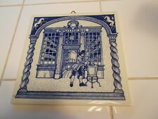 DELFT HOLLAND HANDMADE APOTHEEK TILE PLAQUE-VG+ 5 7/8""