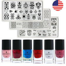 BORN PRETTY Nail Stamping Polish Kits Valentine's Day Stamping Plates Tool Set