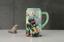 American Belleck Hand Painted with Black Berries Tankard 1905