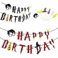 Harry Potter Happy Birthday Banner Cake Picks Cupcake Toppers Set Party Supplies