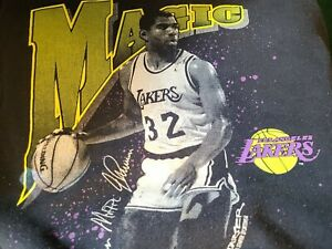 Vintage  Starter 1990 Pullover Sweatshirt Magic LA Lakers XL 46-48 Crew neck