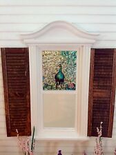 Peacock #1 Dollhouse Miniature  Stained Glass Window  film