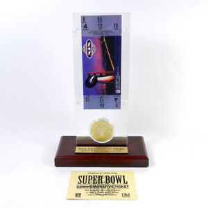 Highland Mint Super Bowl XIX  Replica Ticket with Bronze Coin