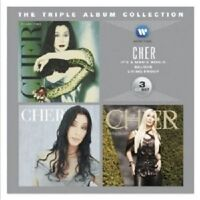 CHER - THE TRIPLE ALBUM COLLECTION (LIVING PROOF/MAN'S WORLD/CHER) 3 CD NEU