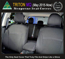 Seat Cover Mitsubishi Triton Neoprene FRONT Full-back Map pockets&REAR (Armrest)