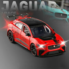 Jaguar I-Pace eTrophy 1/32 Model Car Diecast Toy Vehicle Collection Kid Gift Red