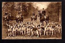Cirencester - V.W.H. (Earl of Bathurst's) Hounds - printed postcard